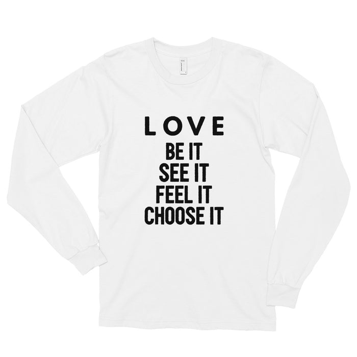 Love (black) Long sleeve t-shirt