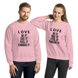 Love (black) Sweatshirt