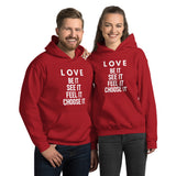 Love (white) Hooded Sweatshirt