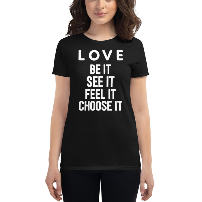 Love (white) Women's short sleeve t-shirt