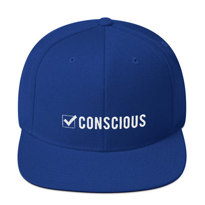 Conscious Check Snapback Hat