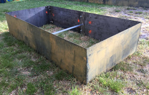 "DIY Corten 8' L  x 4' W x 20""H 14 Gauge Raised Planter Bed, No Bottom"
