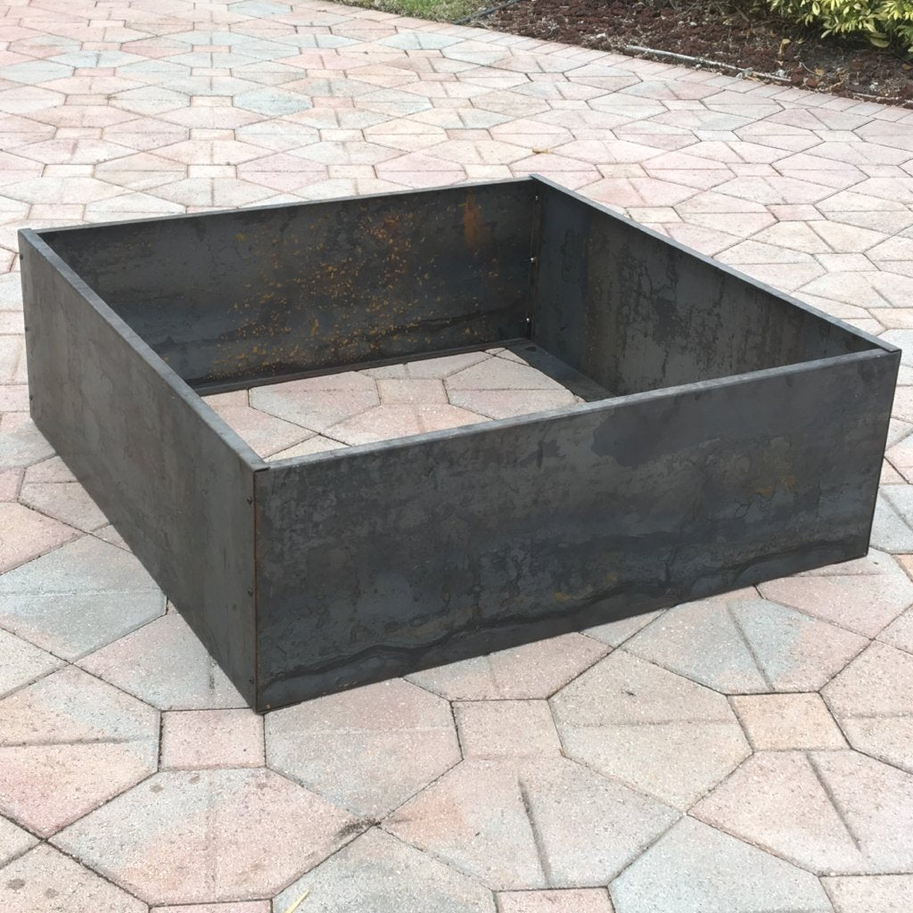 "DIY Corten Square Raised Planter Bed, No Bottom,14 Gauge,  4' L  x 4' W x 20""H"
