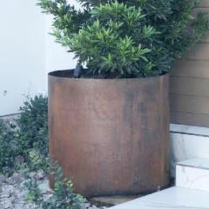 "DIY Corten Cylinder Planter, 36""D x 40""H, No Bottom, 14 Gauge"