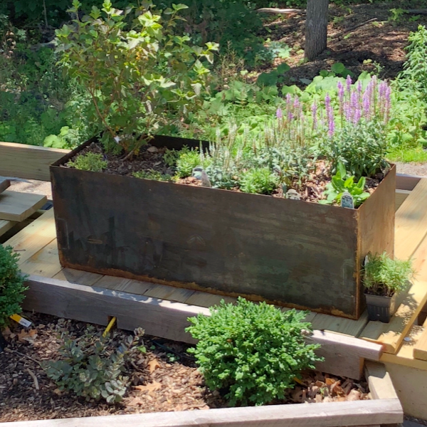 Corten Low, Rectangular Planter