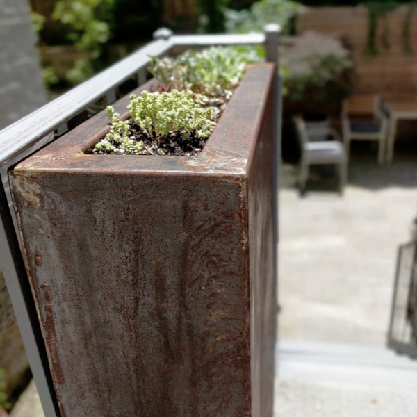 Corten Tall, Rectangular Planter