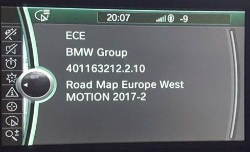 BMW Motion 2019 Navigation Map Update Package