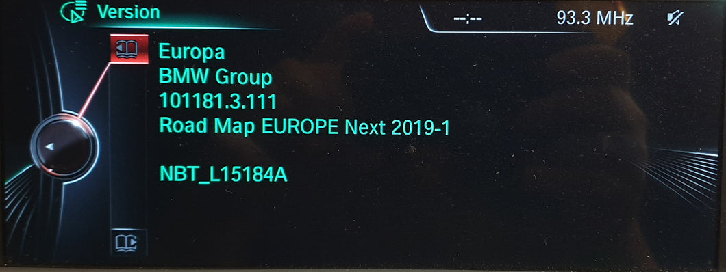 BMW Next 2019 Navigation Map Update Package