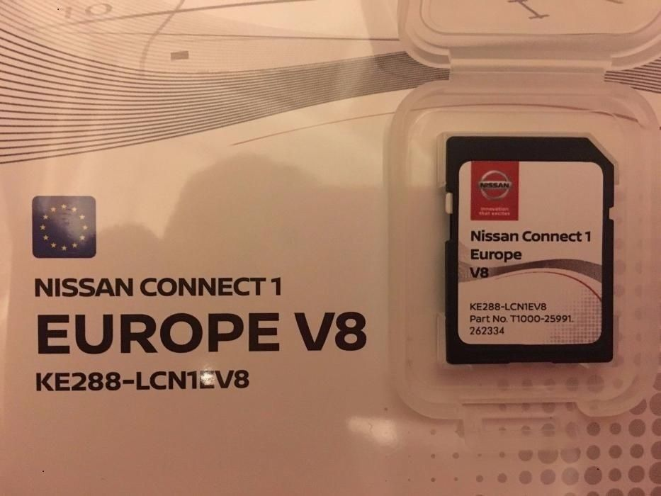 Nissan Connect 1 LCN1 2018 Navigation Map Update SD Card - KE288-LCN1EV8