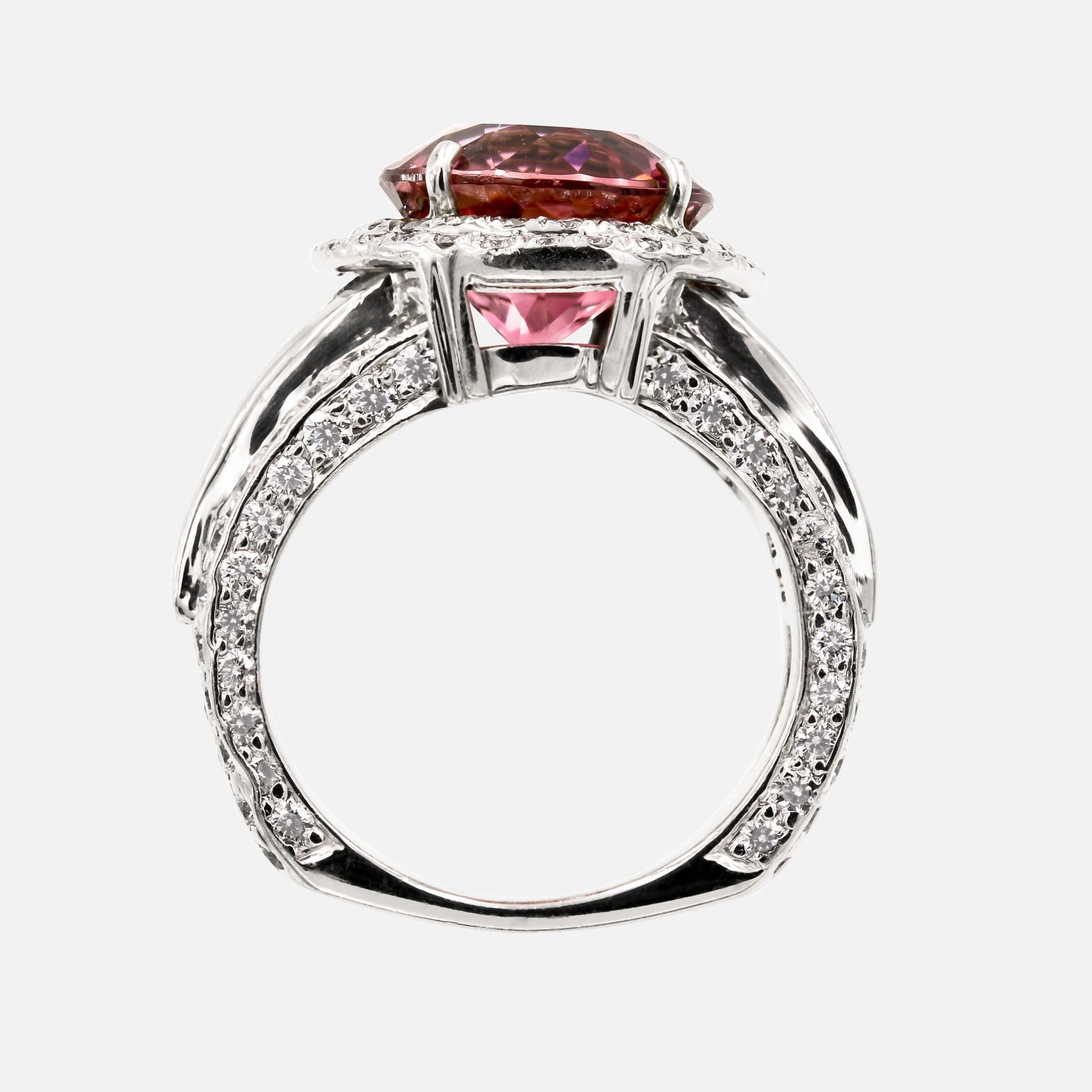 Diamond Ring With Pink Stone