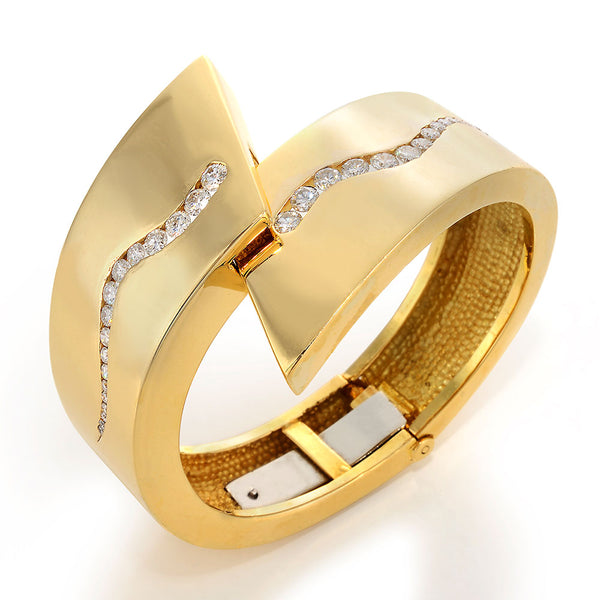Image of Dennis Lampert Gold and Diamond Bangle