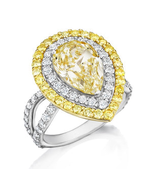 Chardonnay Diamond Collection Ring with Double Halo