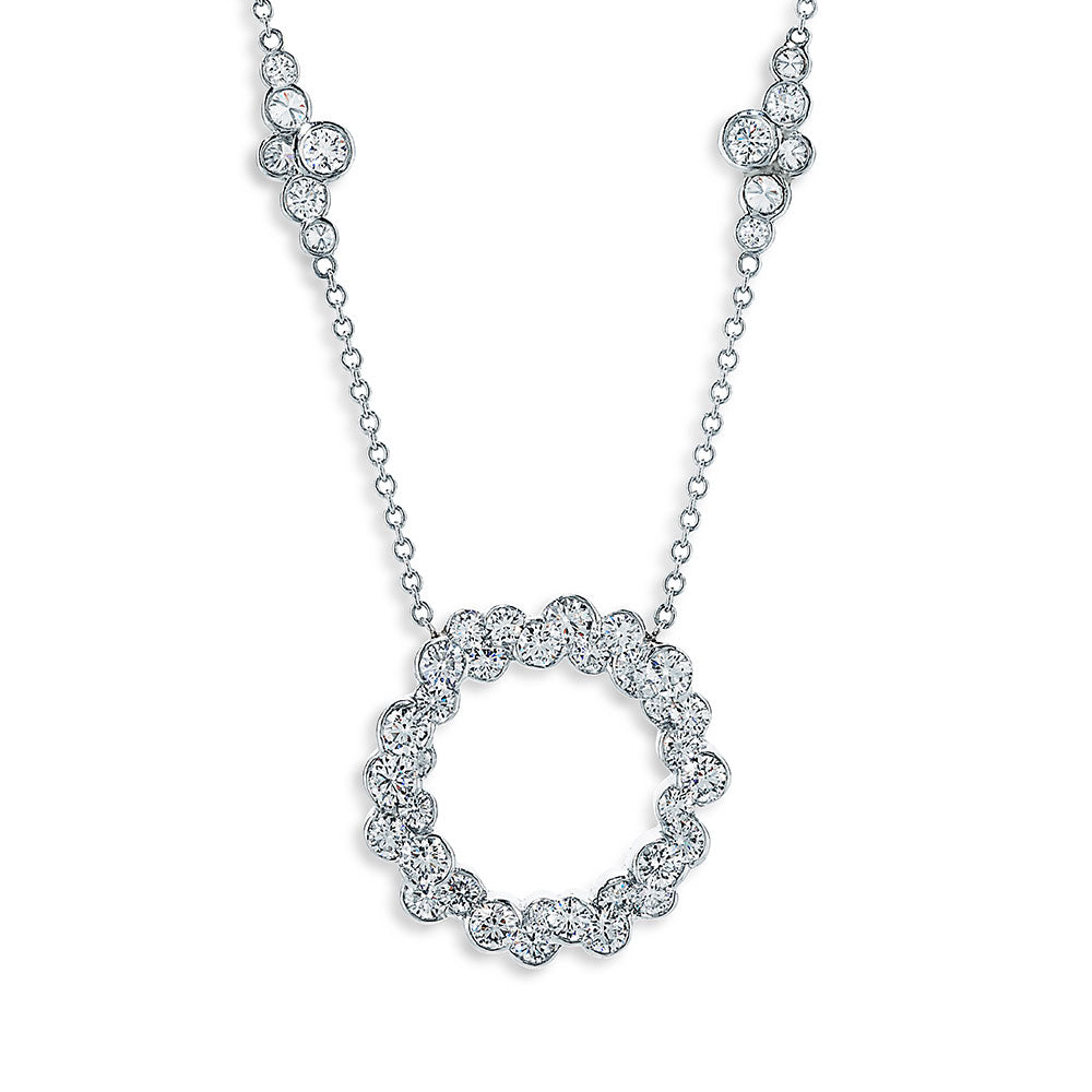 Image of Cumullus Diamond and Platinum Circle Necklace