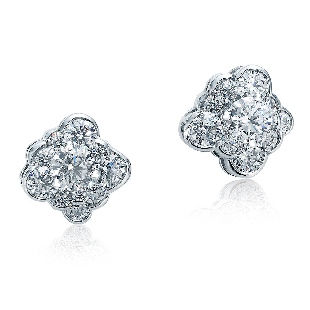Cumullus Diamond and Platinum Stud Earrings
