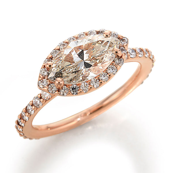 Image of DBead Set Diamond and Rose Gold Ring