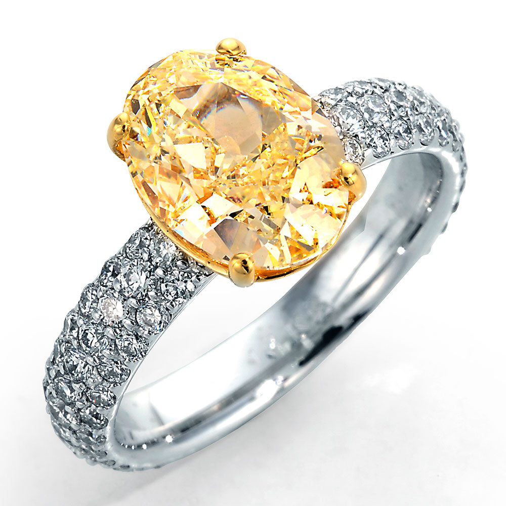 white and yellow gold ring