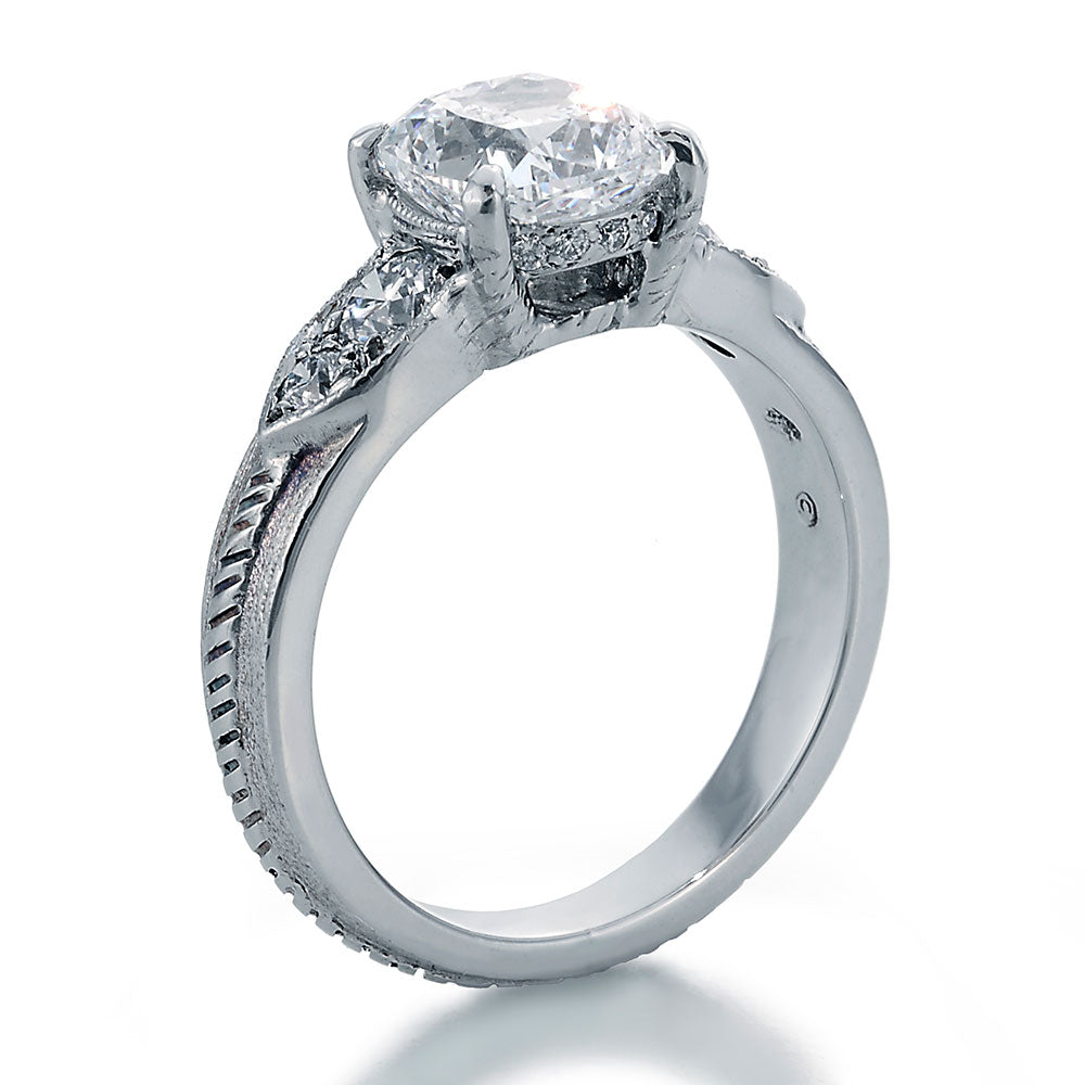Platinum Engagement Ring For Sale