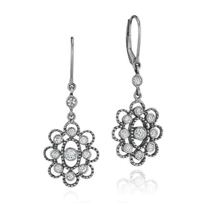 Image of Sillhouette Midnight Finish Earrings