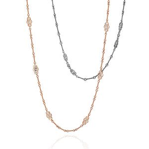 Two Sillhouette Diamond Necklaces