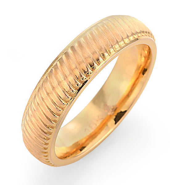 traditional rose gold wedding band