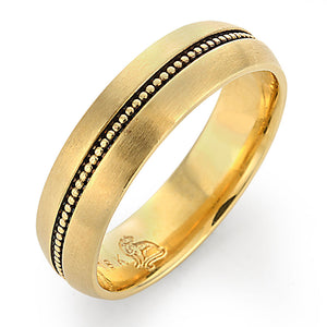 gold men's wedding band