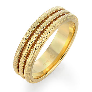 men's yellow gold wedding ring