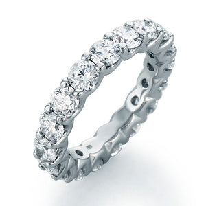 Image of SkaLLop Eternity Band with 18 Ideal Cut Round Diamonds