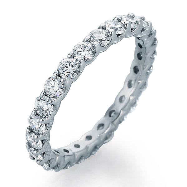 Image of SkaLLop Eternity Band with 24 Ideal Cut Round Diamonds