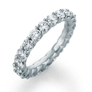 Image of SkaLLop Eternity Band with 21 Ideal Cut Round Diamonds and Rounded Prongs