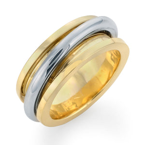 Men's Gold and Platinum Wedding Ring