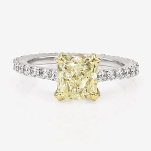 Radiant Cut Diamond Diamond Wedding Band