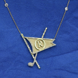 Medium Diamond Burgee Necklace