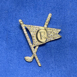 Pave Diamond Burgee Pin