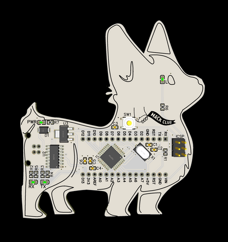 Corginator 9000 Lite Development Board- no headers