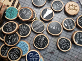 Cute wood burnt magnets - choose your design!
