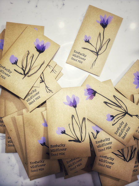 BULK Kentucky wildflower handpainted Kraft paper envelopes - 10 units