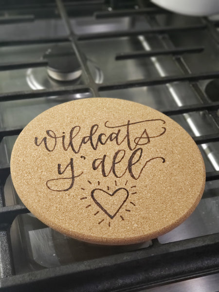 Handmade hot plate kitchen trivet - choose your design