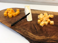 Walnut serving board - hand rubbed finish, charcuterie board