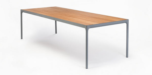 BAMBOO FOUR DINING TABLE GRIJS XL