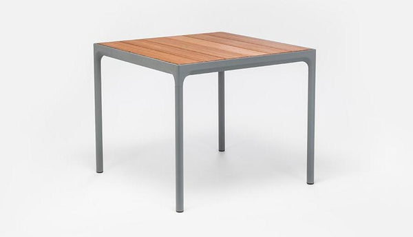 BAMBOO FOUR DINING TABLE ZWART