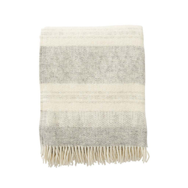 Klippan plaid wol light grey  - Deken