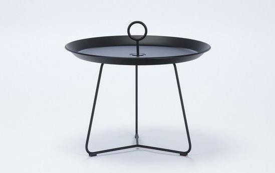 EYELET TRAY TABLE 60 ZWART