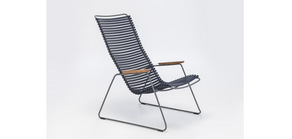 CLICK LOUNGE CHAIR BLACK -OUTDOOR STOEL HOUE ZWART-PVC