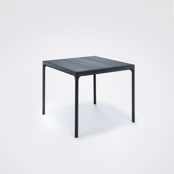 FOUR BAMBOO DINING TABLE BLACK