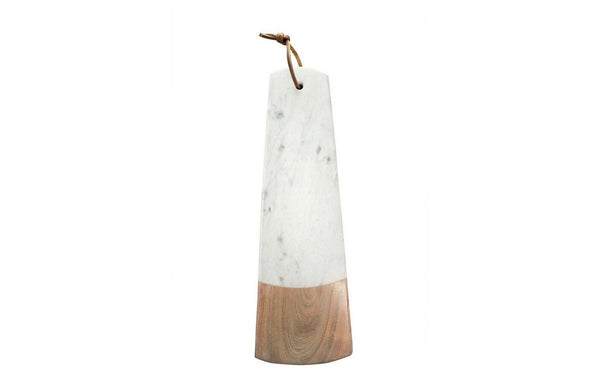 WHITE MARMER ACACIA WOO LONG RECTANGULAR BOARD