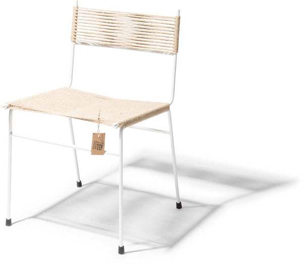 ACAPULCO DINING CHAIR POLANCO HENNEP WHITE FRAME
