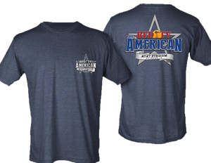 American Rodeo 2019 Logo T-Shirt - Heather Navy