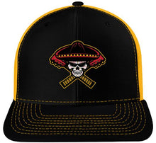 Load image into Gallery viewer, Richardson Adjustable Mesh Hat - Black/Gold