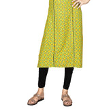 Fabulous Green Colored Rayon Straight Kurti