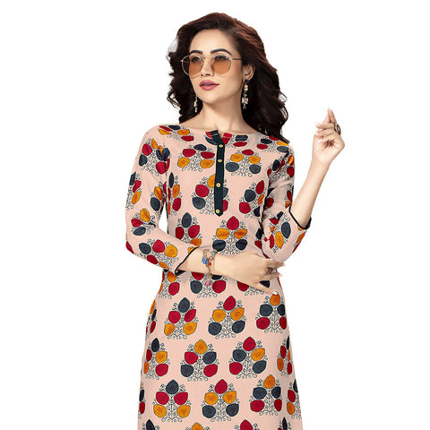 Capricious Pink Colored Printed Kurti